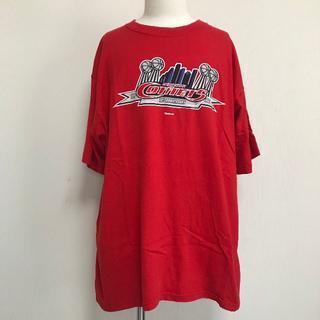 リーボック(Reebok)の売切!Reebok Tシャツ 赤 メンズXL ビッグサイズ 半袖 [015](Tシャツ/カットソー(半袖/袖なし))