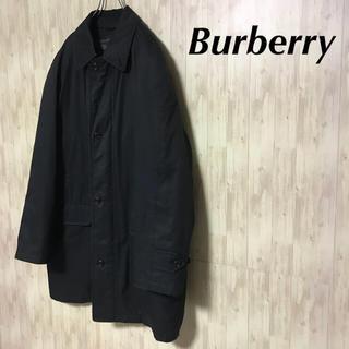 バーバリー(BURBERRY)の【美品 Burberry ステンカラーコート ブラック メンズL】(ステンカラーコート)