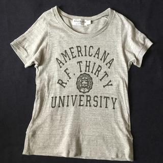 アメリカーナ(AMERICANA)のアメリカーナ Tシャツ グレー(Tシャツ(半袖/袖なし))