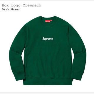 シュプリーム(Supreme)のSupreme box logo crew neck green 最安値(スウェット)