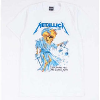少し訳有 メタリカ 半袖 Tシャツ メンズ レディース  M 白(Tシャツ/カットソー(半袖/袖なし))