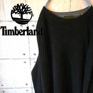 ティンバーランド(Timberland)の90s 古着 ティンバーランド 刺繍ロゴ ワンポイント ニット セーター(スウェット)