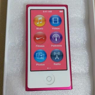 アップル(Apple)のipod nano第7世代(新品未使用)(ポータブルプレーヤー)