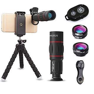高品質HD18X望遠レンズ付スマホレンズ4点セット 正規品 Bluetooth