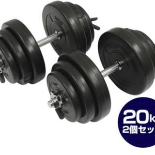 ★送料無料★セメント ダンベル 20kgx2個 健康アイテム(トレーニング用品)