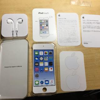 アイポッドタッチ(iPod touch)のiPod touch 第6世代  外箱 付属品付き!(ポータブルプレーヤー)