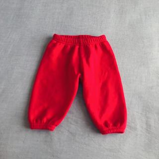 アメリカンアパレル(American Apparel)のアメリカンアパレル 赤 裏起毛 ボア あったかパンツ 6-12m 70(パンツ)