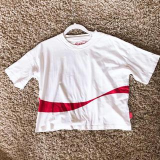 ジーユー(GU)のショート丈 白T(Tシャツ(半袖/袖なし))
