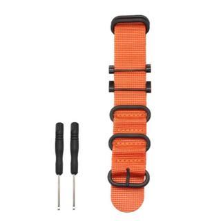 スント(SUUNTO)のSUUNTO CORE 交換用 ベルト 腕時計 バンド 工具付き (オレンジ)(その他)
