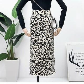 ZARA - レオパードロングスカート