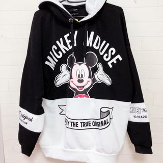 ディズニー(Disney)の新品  mickey 90year ミッキー 裏起毛パーカー  ビックパーカー (パーカー)