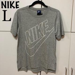 ナイキ(NIKE)のL 新品 タグ付き ナイキ レディース 半袖 Tシャツ グレー 半袖Tシャツ(Tシャツ(半袖/袖なし))