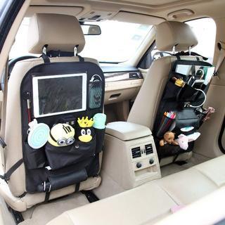 【新品・送料込み】車用収納ポケット 後部座席収納  ティッシュボックス iPad(その他)