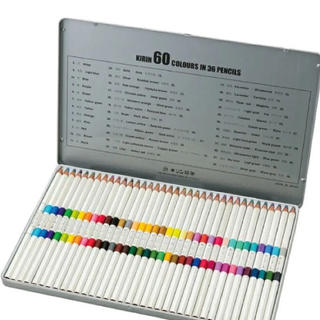 キリン(キリン)の色鉛筆 キリン鉛筆 36本60色 (色鉛筆 )