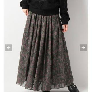 イエナスローブ(IENA SLOBE)のフラワージャガードプリントスカート(ロングスカート)