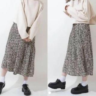 シマムラ(しまむら)のしまむら レオパードスカート 中肌色(ロングスカート)