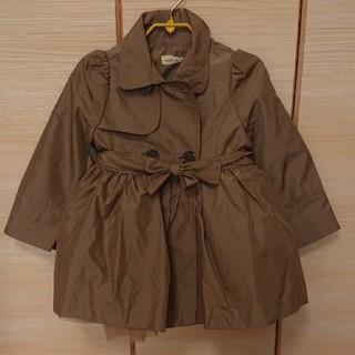 アンバー(Amber)の韓国子供服 チュール付きトレンチコート 90cm(コート)