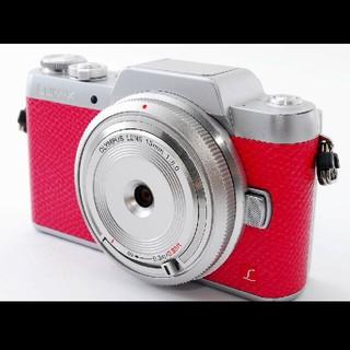 パナソニック(Panasonic)の超可愛いピンク♪パナソニック Lumix DMC-GF7 レンズセット♪(ミラーレス一眼)