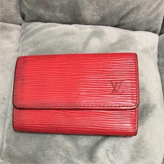 ルイヴィトン(LOUIS VUITTON)のルイヴィトン 赤エピ 6連キーケース キーホルダー付き  (キーケース)