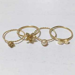 スナイデル(snidel)の4連リングset(リング(指輪))