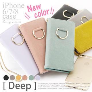 iPhoneケース リング付き手帳型ケース 5カラー(iPhoneケース)