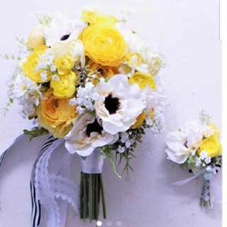 ウエディングブーケ☆ブトニア☆花冠セット(ブーケ)