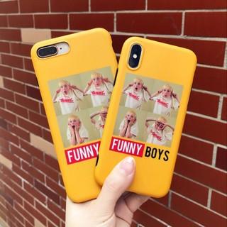 iPhoneケース おもしろケース FUNNY BOYS イエロー(iPhoneケース)