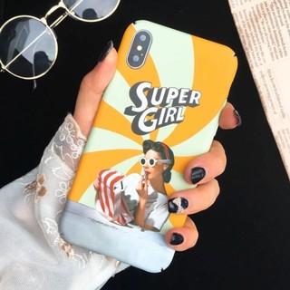 iPhoneケース SUPER GIRL おもしろケース イエロー(iPhoneケース)