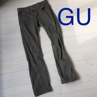 ジーユー(GU)のカーキ 綿パンツ GU(チノパン)
