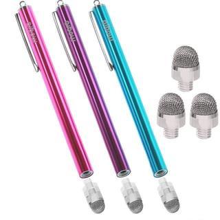 タッチペン スマートフォン タブレット(ピンク+ライトブルー+パープル)(その他)