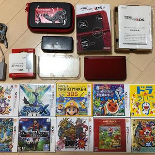 ニンテンドー3DS(ニンテンドー3DS)の★任天堂 3DS 本体 ソフト10本セット カバー、ケース付★(携帯用ゲーム本体)