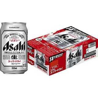 アサヒ スーパードライ 350ml缶×24本(食品)