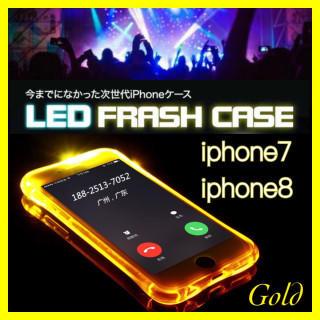 【今週まで!!大特価SALE!!!】通知で光るiphoneケース 《ゴールド》 (iPhoneケース)