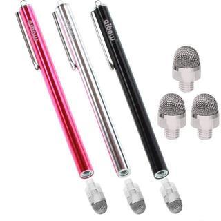 タッチペン スマートフォン タブレット  (レッド+ブラック+シルバー)(その他)