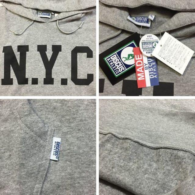 DISCUS(ディスカス)のSALE  送料無料 XLサイズ DISCUS ディスカス NYC パーカー 杢 メンズのトップス(パーカー)の商品写真
