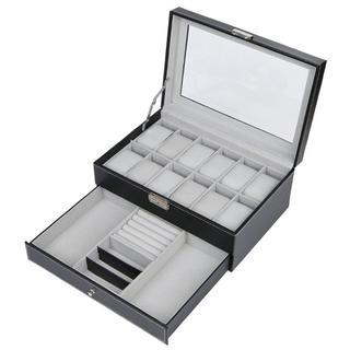 ★限定価格★腕時計収納ボックス 12本用 2段式(小物入れ)