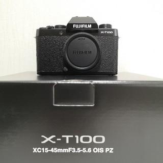 富士フイルム - 新品★富士フィルム X-T100 ブラック ボディ