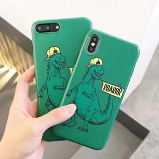 ダイナソー 恐竜ケース グリーン iPhoneケース TPU ユニセックス(iPhoneケース)