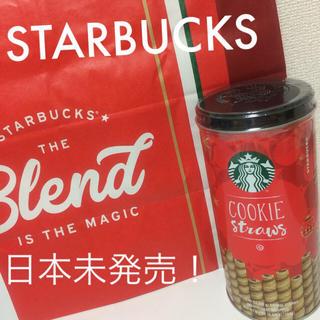 スターバックスコーヒー(Starbucks Coffee)の日本未発売 ★ スタバ  クリスマス 2018 ホリデー 缶入り クッキー (菓子/デザート)
