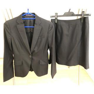 アオキ(AOKI)のスカートスーツ☆ビジネス 黒 LES MUES(スーツ)