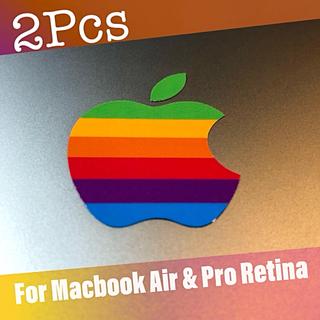 アップル(Apple)のレインボー クラシック Apple ロゴ ステッカー for Retina(シール)