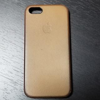 アップル(Apple)のApple iPhoneSE 純正ケース  レザー サドルブラウン(iPhoneケース)