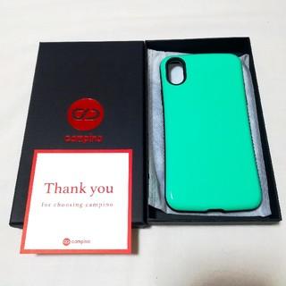 campino iPhone X/XS 対応 ケース 耐衝撃 グリーン(iPhoneケース)