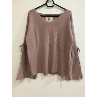 シマムラ(しまむら)の袖リボン♡スリット入り 薄手のニット(ニット/セーター)