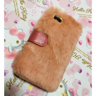 【新品】iPhoneケース カバー 手帳型 モフモフ(iPhoneケース)