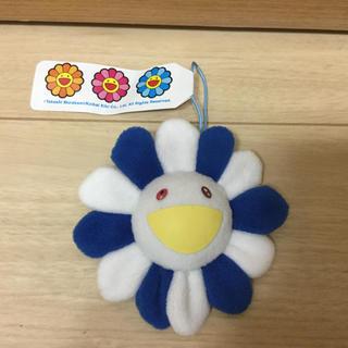 本物正規品 最安値 村上隆 kaikaikiki お花フラワー 白青 8.5cm