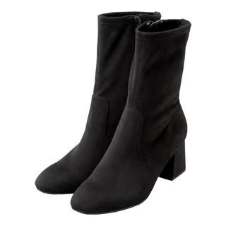 ジーユー(GU)の新品タグつき☆大人気商品☆ストレッチ ハイアンクルブーツ 黒XL(ブーツ)