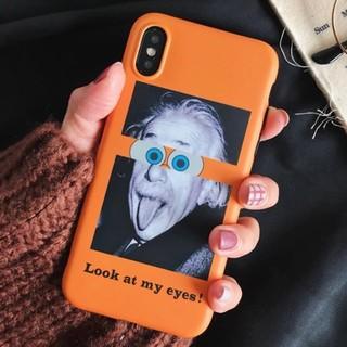 アインシュタイン Look at my eyes! iPhoneケース TPU