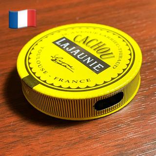 フランス製 カシューラジョーヌ缶 ピルケース アンティーク缶(小物入れ)