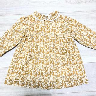 キャラメルベビー&チャイルド(Caramel baby&child )の美品 little cotton clothesワンピース 12-18m(ワンピース)